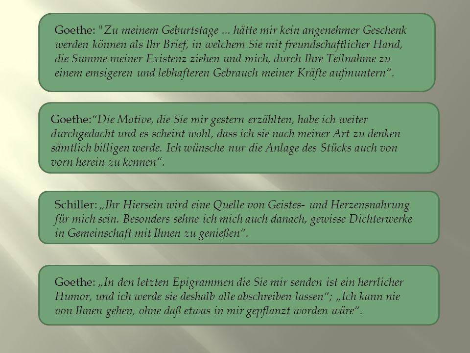 Goethe: Zu meinem Geburtstage...