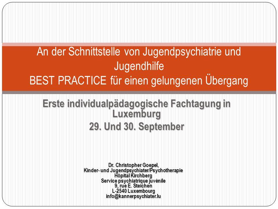 Erste individualpädagogische Fachtagung in Luxemburg 29.