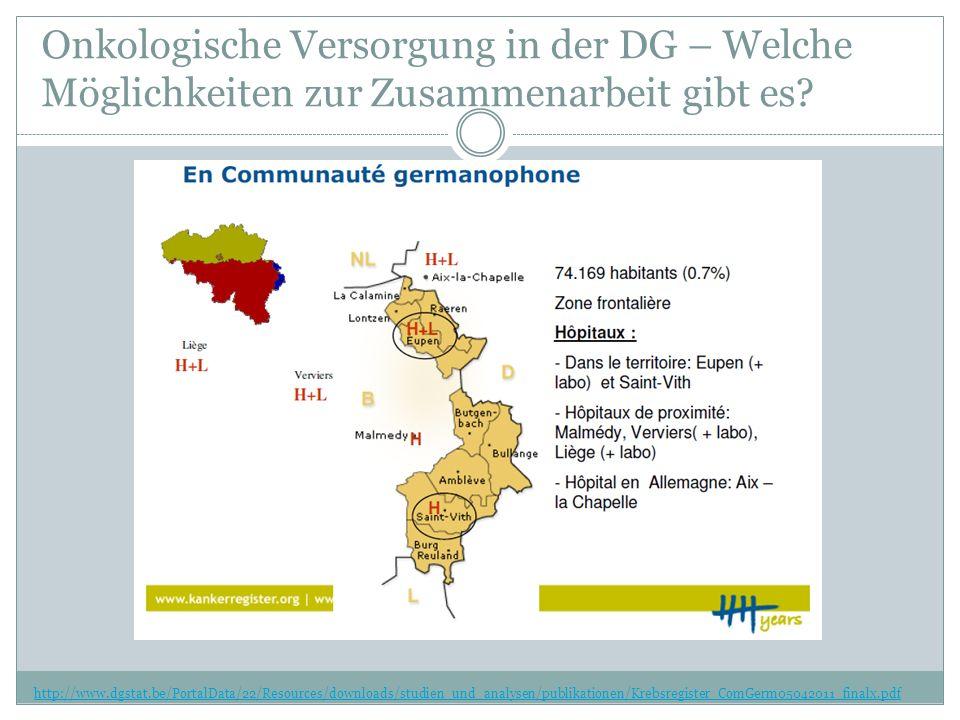 Onkologische Versorgung in der DG – Welche Möglichkeiten zur Zusammenarbeit gibt es.