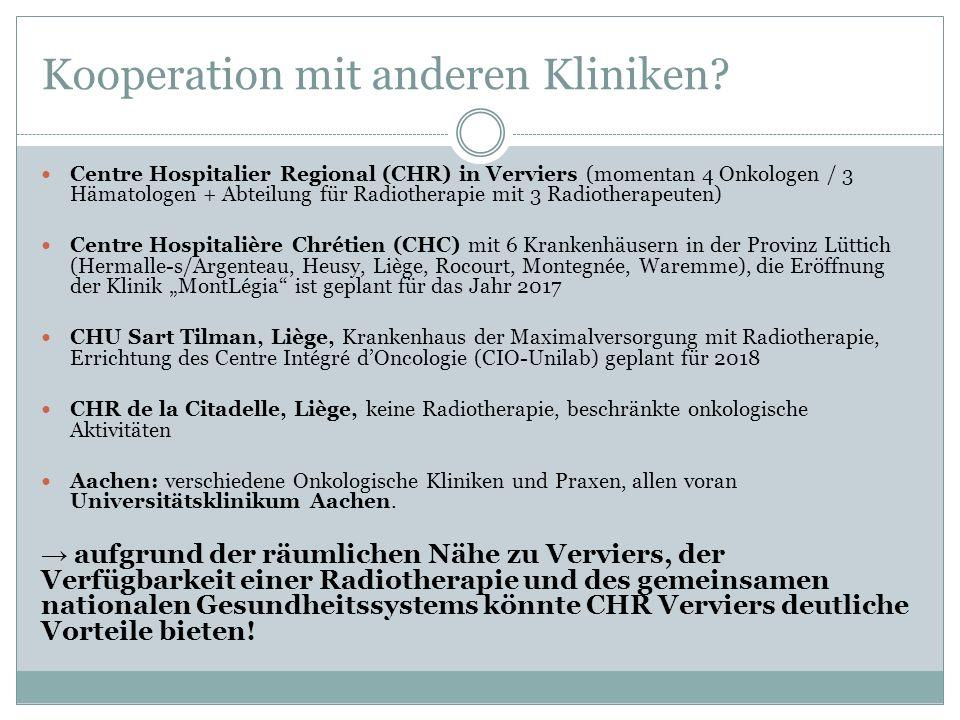 Kooperation mit anderen Kliniken.