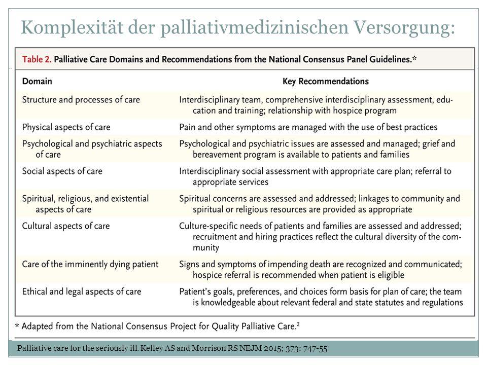 Komplexität der palliativmedizinischen Versorgung: