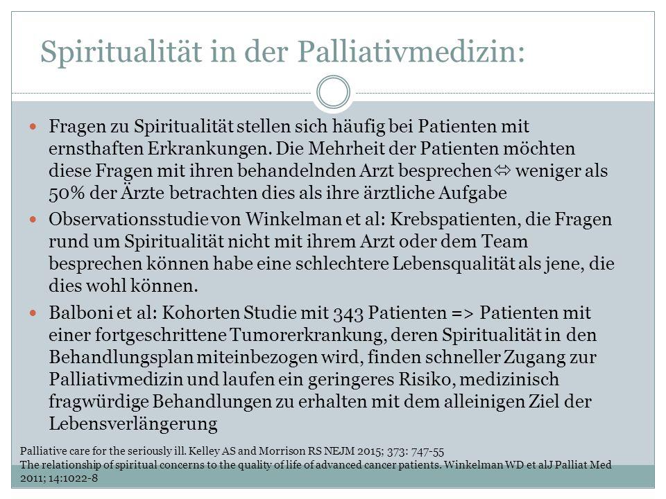 Spiritualität in der Palliativmedizin: Fragen zu Spiritualität stellen sich häufig bei Patienten mit ernsthaften Erkrankungen.