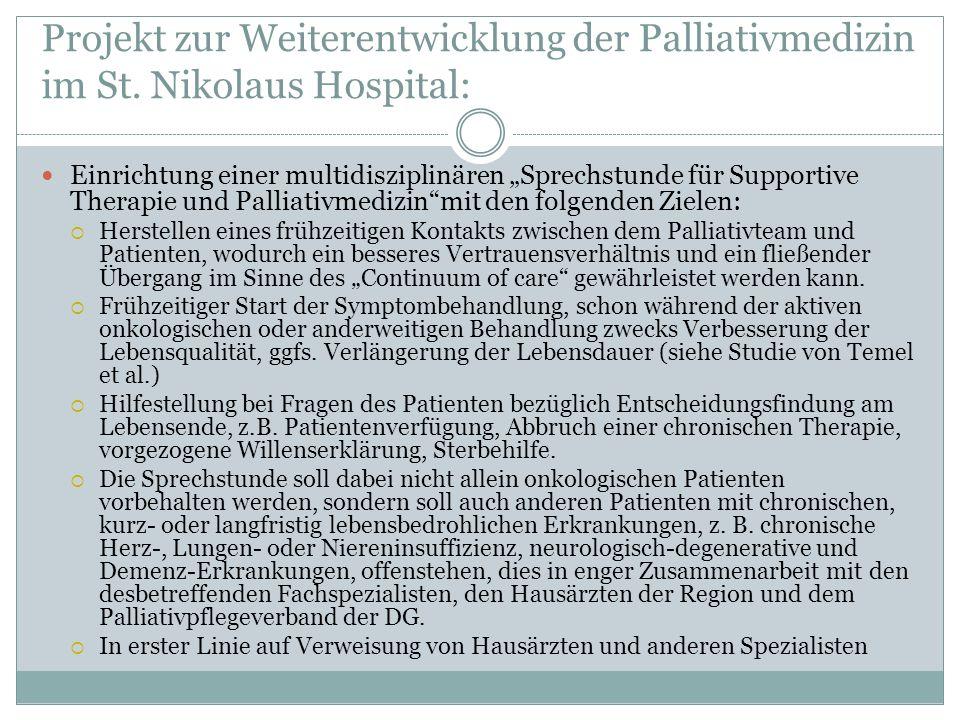 Projekt zur Weiterentwicklung der Palliativmedizin im St.
