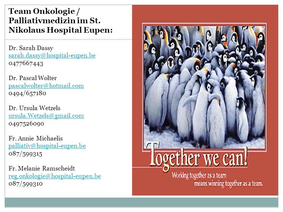 Team Onkologie / Palliativmedizin im St. Nikolaus Hospital Eupen: Dr.