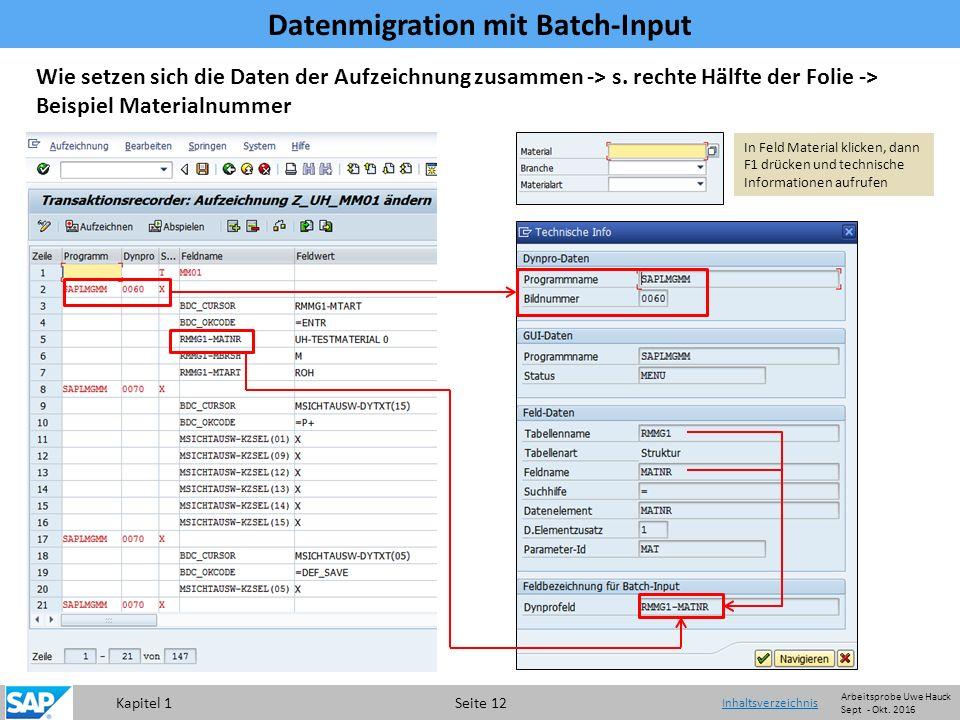 Kapitel 1 Seite 12 Wie setzen sich die Daten der Aufzeichnung zusammen -> s.
