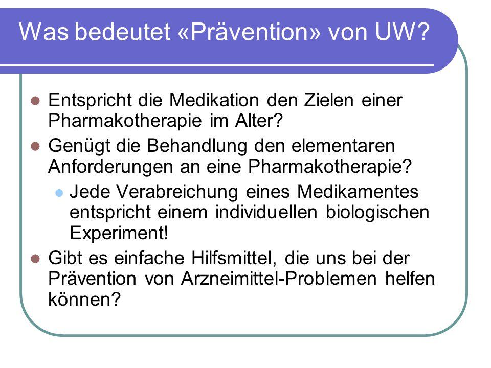 Was bedeutet «Prävention» von UW.