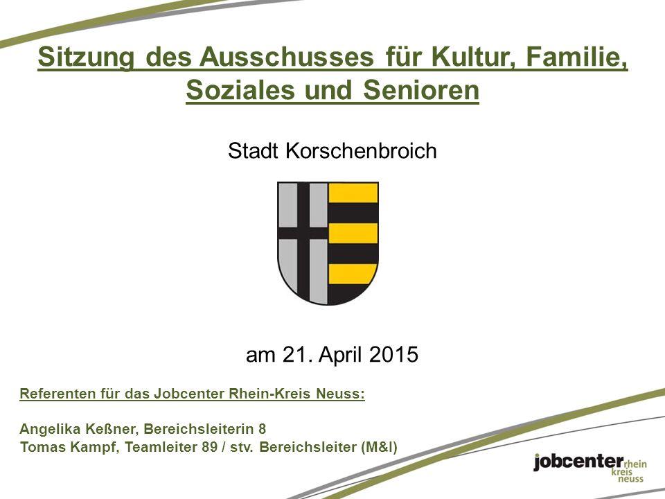Sitzung des Ausschusses für Kultur, Familie, Soziales und Senioren Stadt Korschenbroich am 21.