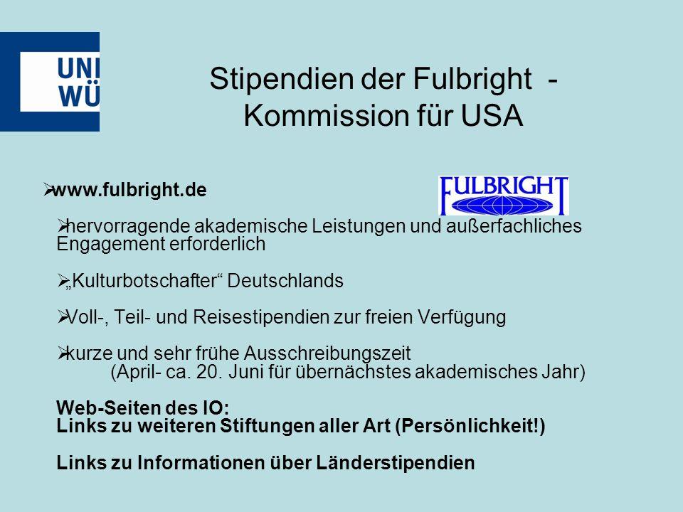 """ www.fulbright.de  hervorragende akademische Leistungen und außerfachliches Engagement erforderlich  """"Kulturbotschafter Deutschlands  Voll-, Teil- und Reisestipendien zur freien Verfügung  kurze und sehr frühe Ausschreibungszeit (April- ca."""