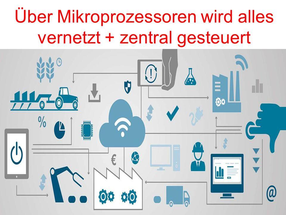 Über Mikroprozessoren wird alles vernetzt + zentral gesteuert