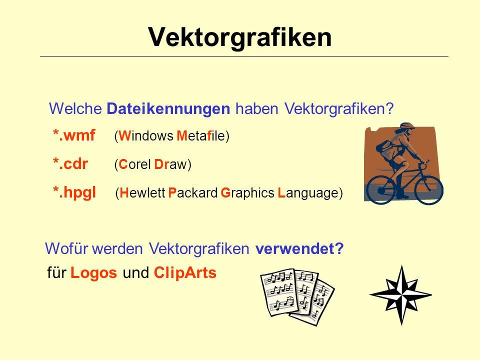 Vektorgrafiken Welche Dateikennungen haben Vektorgrafiken.