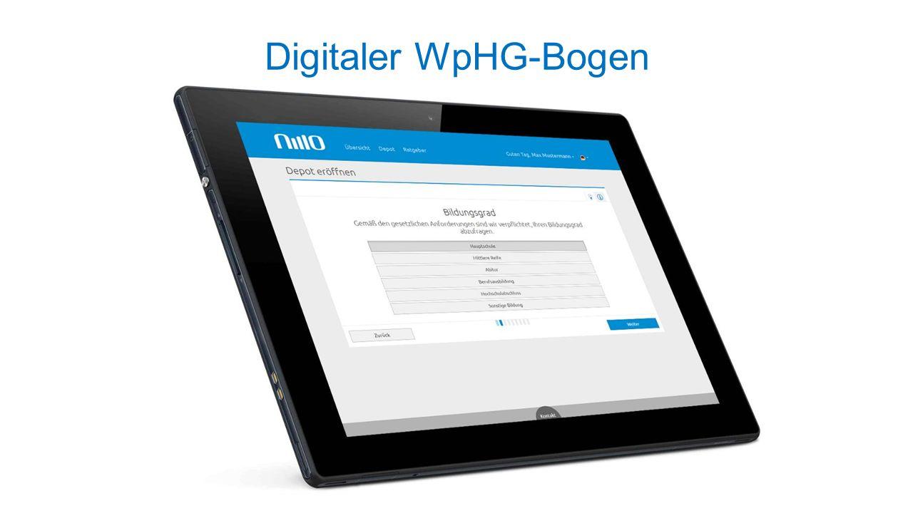 Digitaler WpHG-Bogen