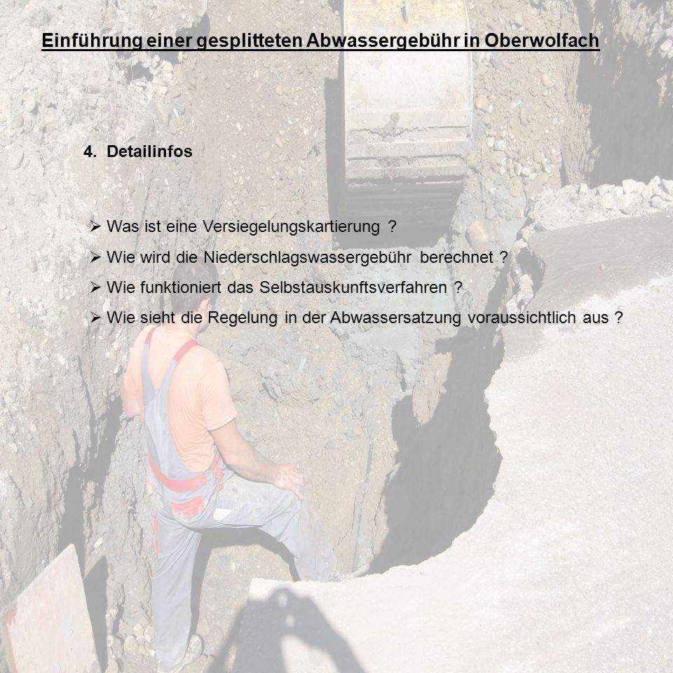 Einführung einer gesplitteten Abwassergebühr in Oberwolfach 4.