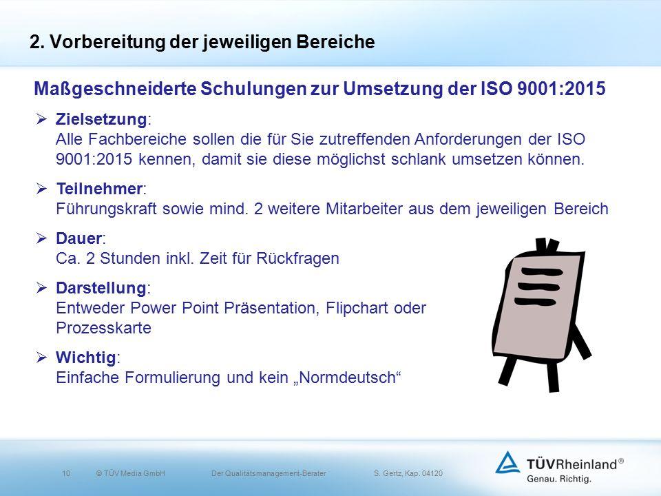 10© TÜV Media GmbH Der Qualitätsmanagement-Berater S.