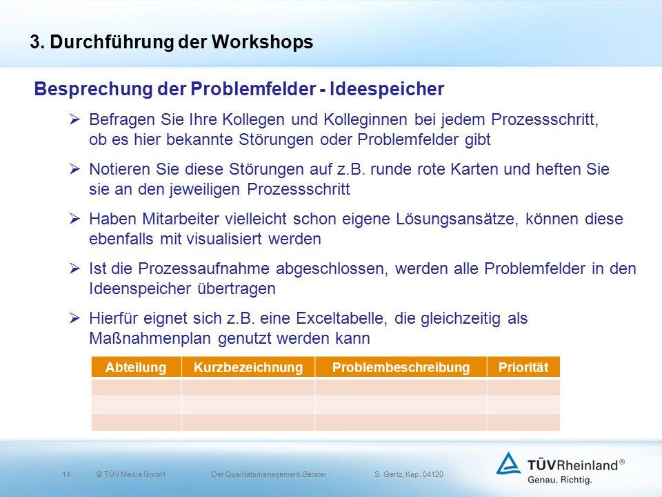 14© TÜV Media GmbH Der Qualitätsmanagement-Berater S.