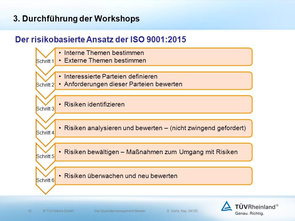 15© TÜV Media GmbH Der Qualitätsmanagement-Berater S.