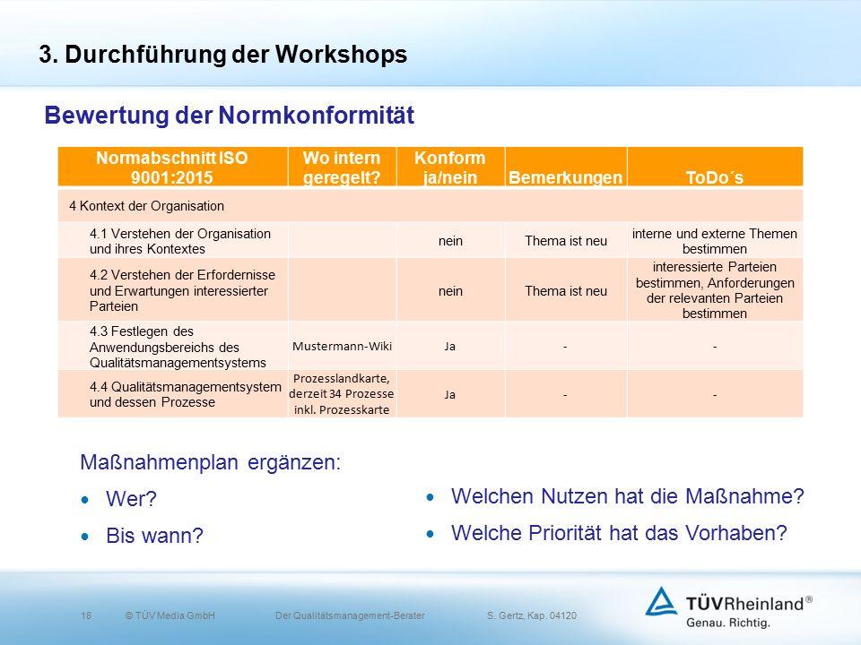 18© TÜV Media GmbH Der Qualitätsmanagement-Berater S.