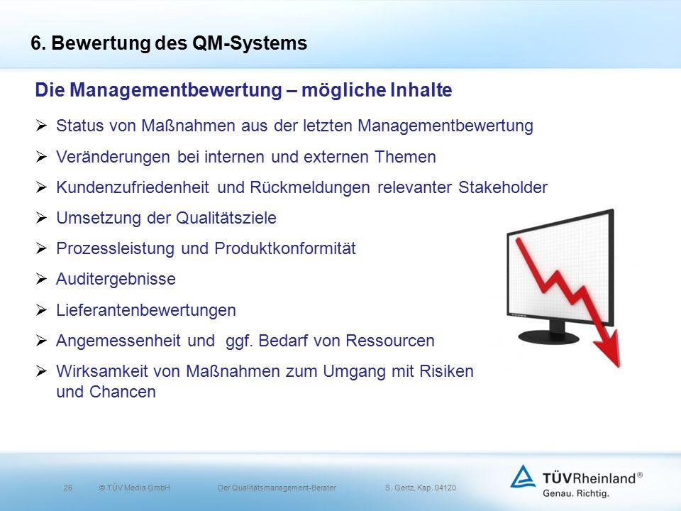 26© TÜV Media GmbH Der Qualitätsmanagement-Berater S.