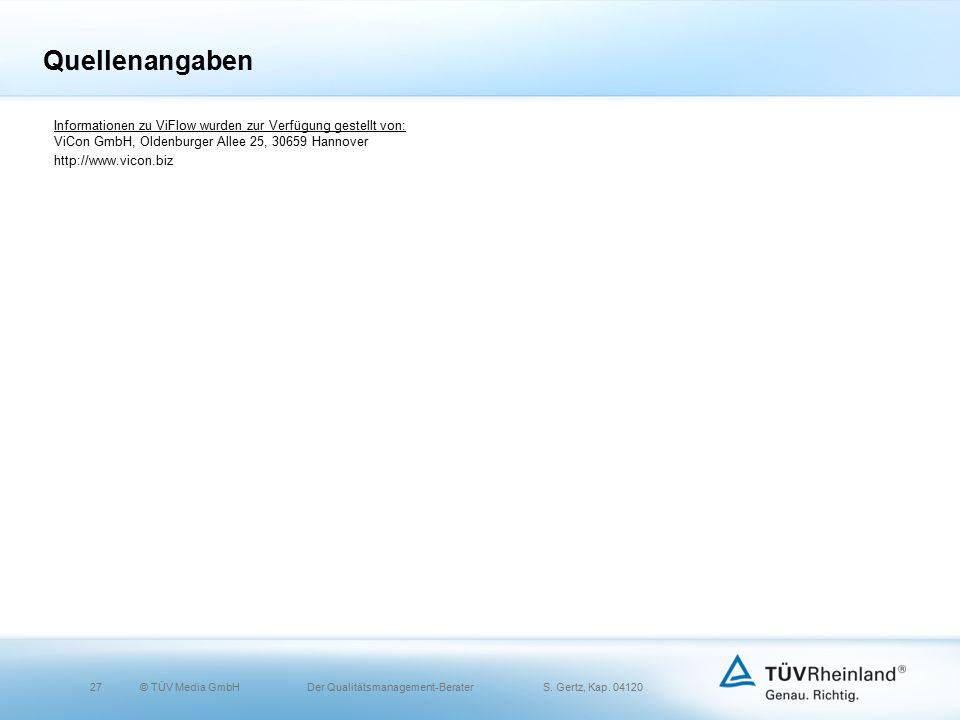 27© TÜV Media GmbH Der Qualitätsmanagement-Berater S.