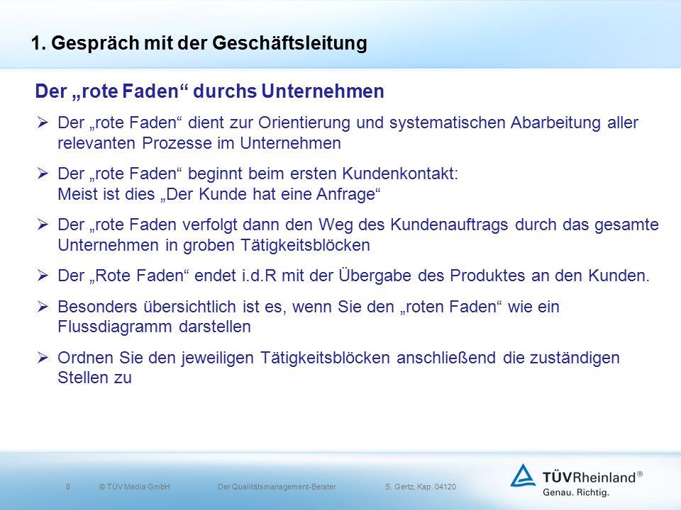 8© TÜV Media GmbH Der Qualitätsmanagement-Berater S.