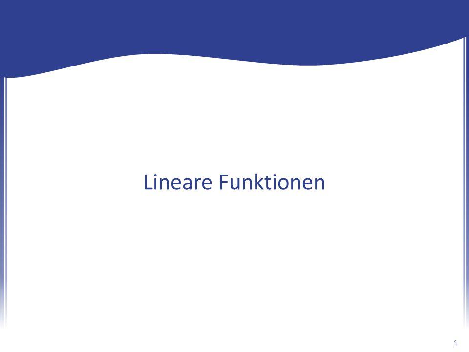 Lineare Funktionen 1