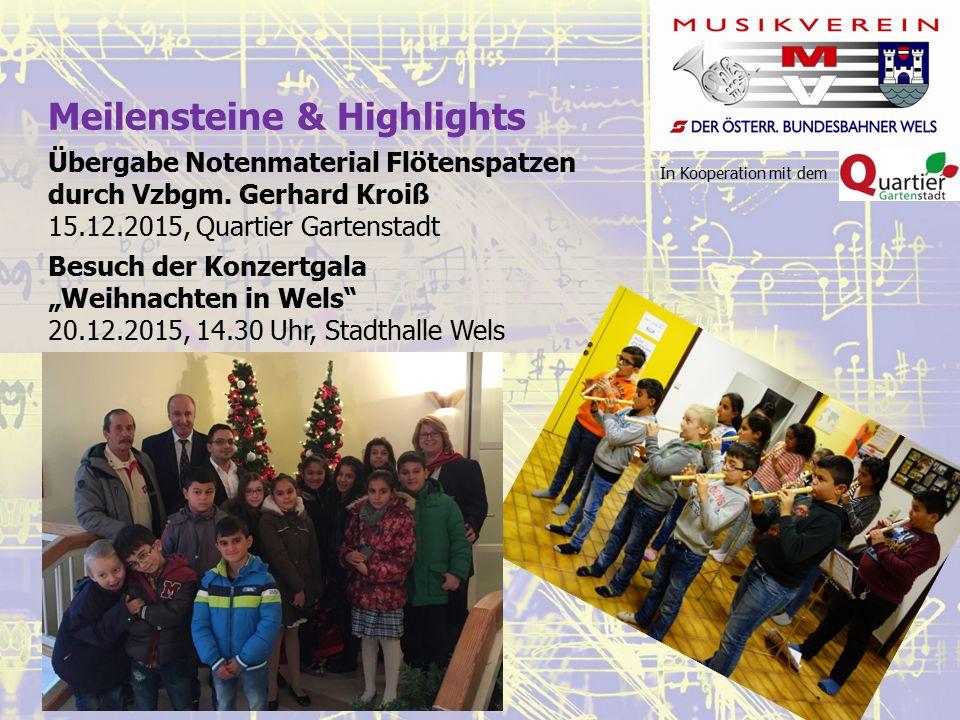 In Kooperation mit dem Meilensteine & Highlights Übergabe Notenmaterial Flötenspatzen durch Vzbgm.