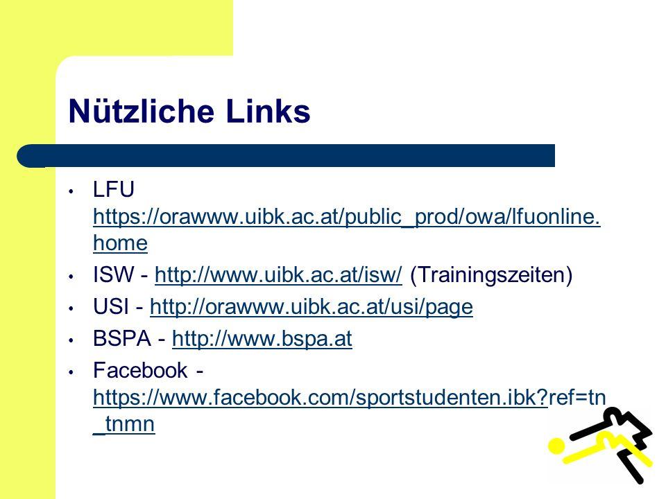 Nützliche Links LFU https://orawww.uibk.ac.at/public_prod/owa/lfuonline.