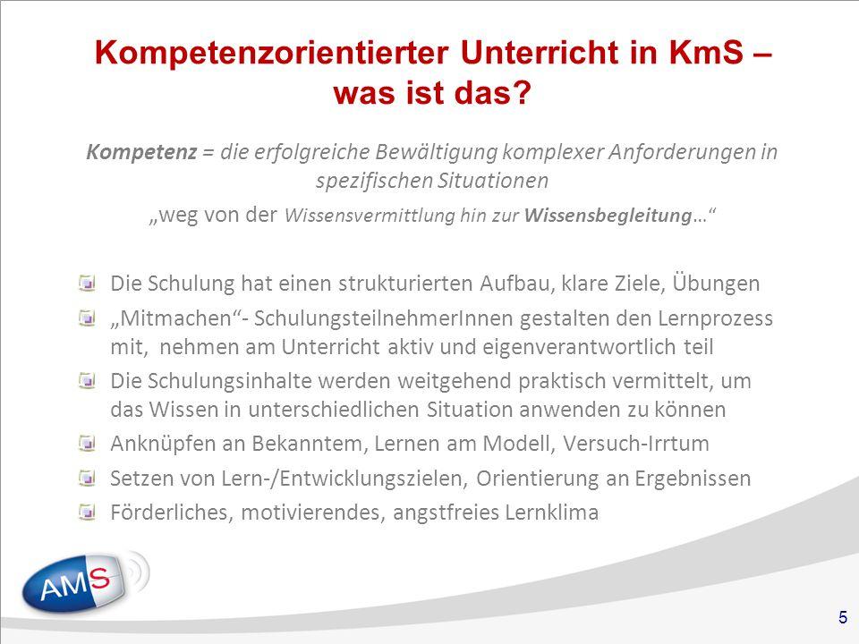 5 Kompetenzorientierter Unterricht in KmS – was ist das.