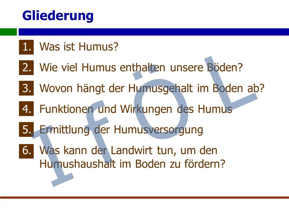 Gliederung 1.Was ist Humus. 2.Wie viel Humus enthalten unsere Böden.