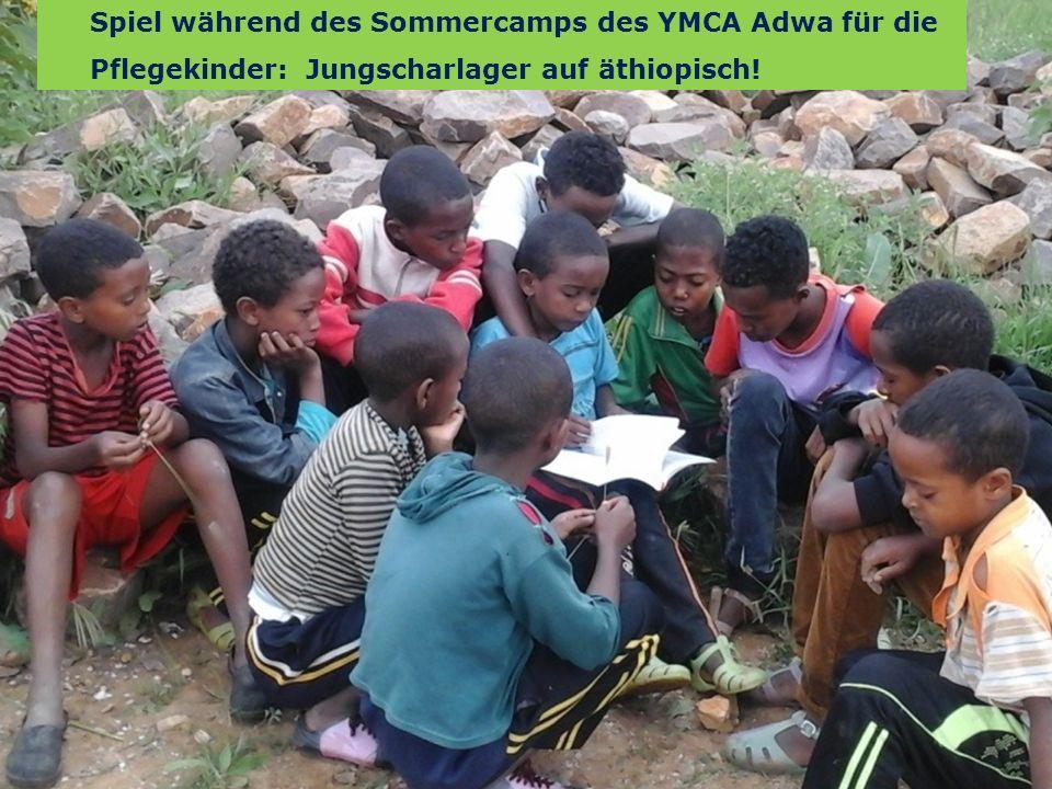 15 We are one EJW-Weltdienst Jahresaktion 2016-2017 Äthiopien: Hilfe für Straßenkinder und Seed Money Fritz Leng Spiel während des Sommercamps des YMCA Adwa für die Pflegekinder: Jungscharlager auf äthiopisch!