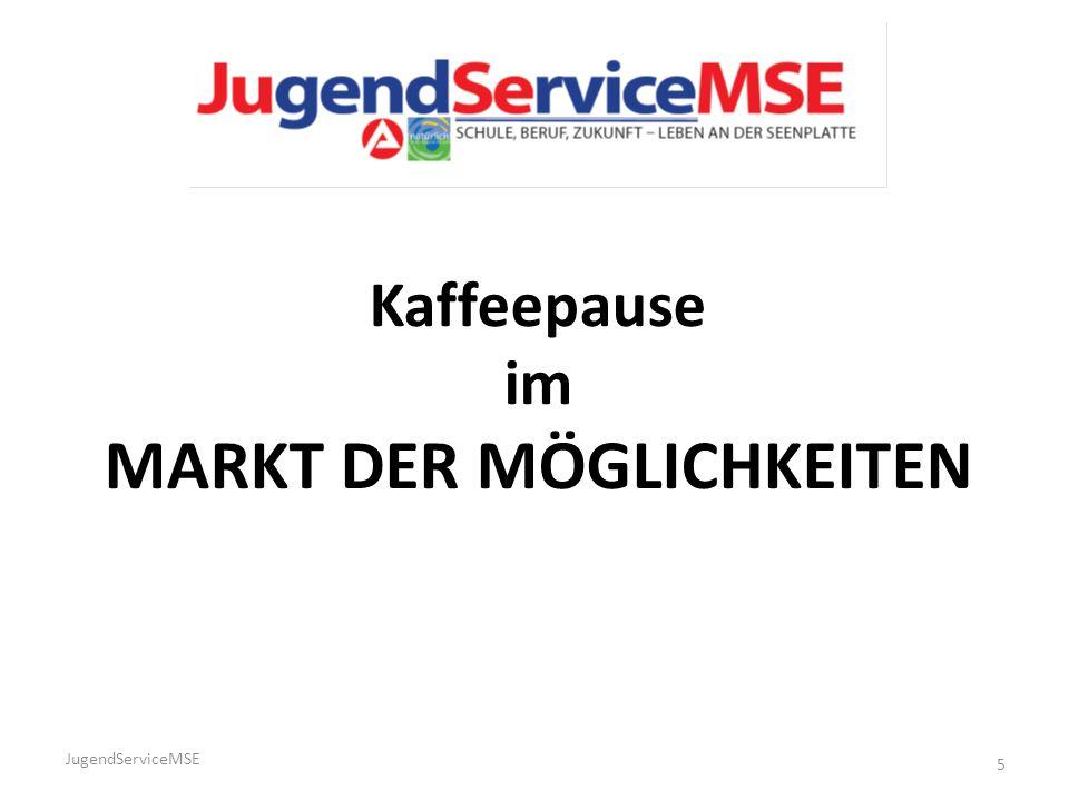 JugendServiceMSE 5 Kaffeepause im MARKT DER MÖGLICHKEITEN