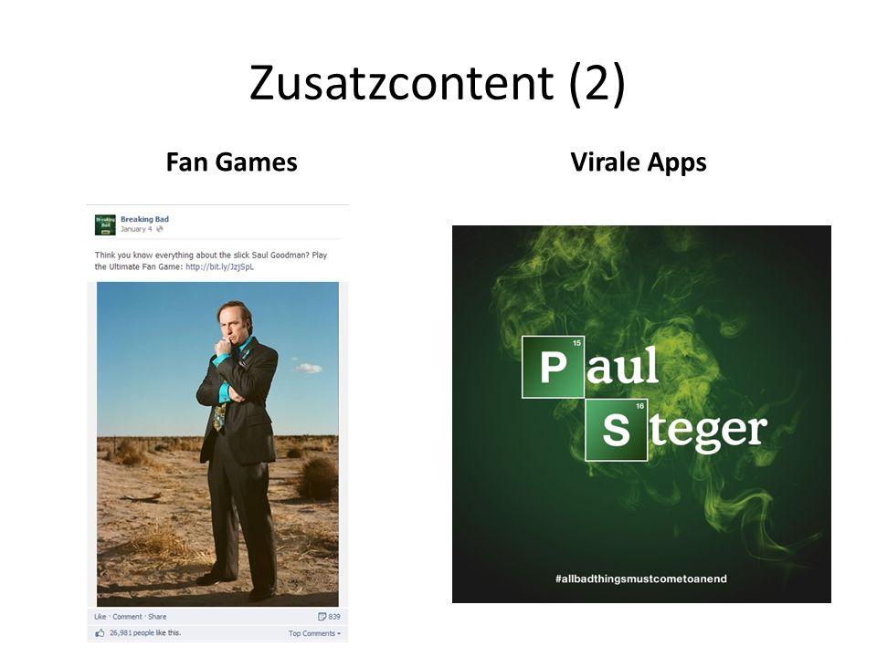 Zusatzcontent (2) Fan GamesVirale Apps