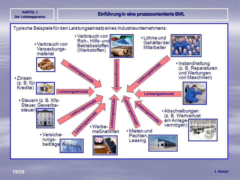 Einführung in eine prozessorientierte BWL J.
