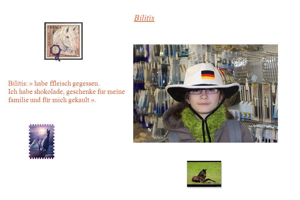 Bilitis Bilitis: » habe ffleisch gegessen.