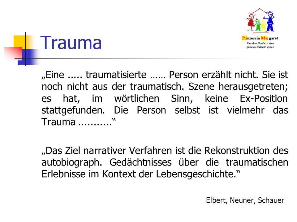 """Trauma """"Eine..... traumatisierte …… Person erzählt nicht."""