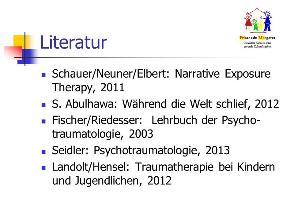 Literatur Schauer/Neuner/Elbert: Narrative Exposure Therapy, 2011 S.