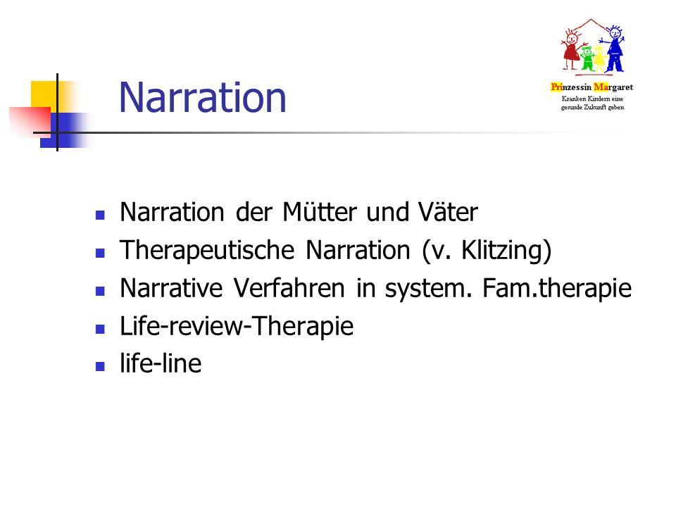 Narration Narration der Mütter und Väter Therapeutische Narration (v.