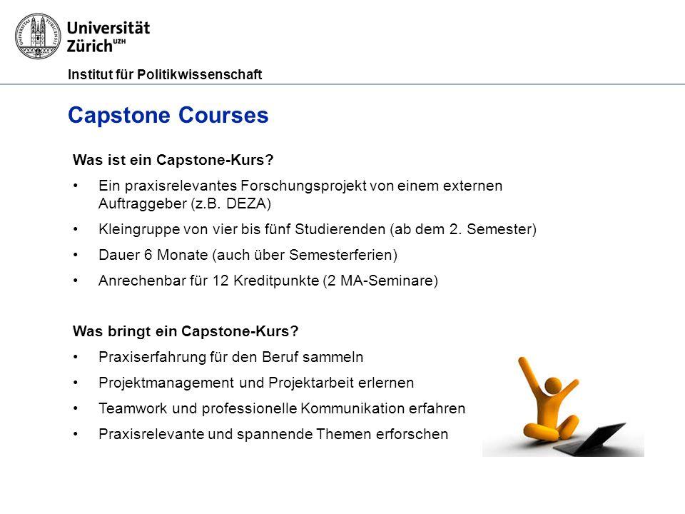 Institut für Politikwissenschaft Capstone Courses Was ist ein Capstone-Kurs.