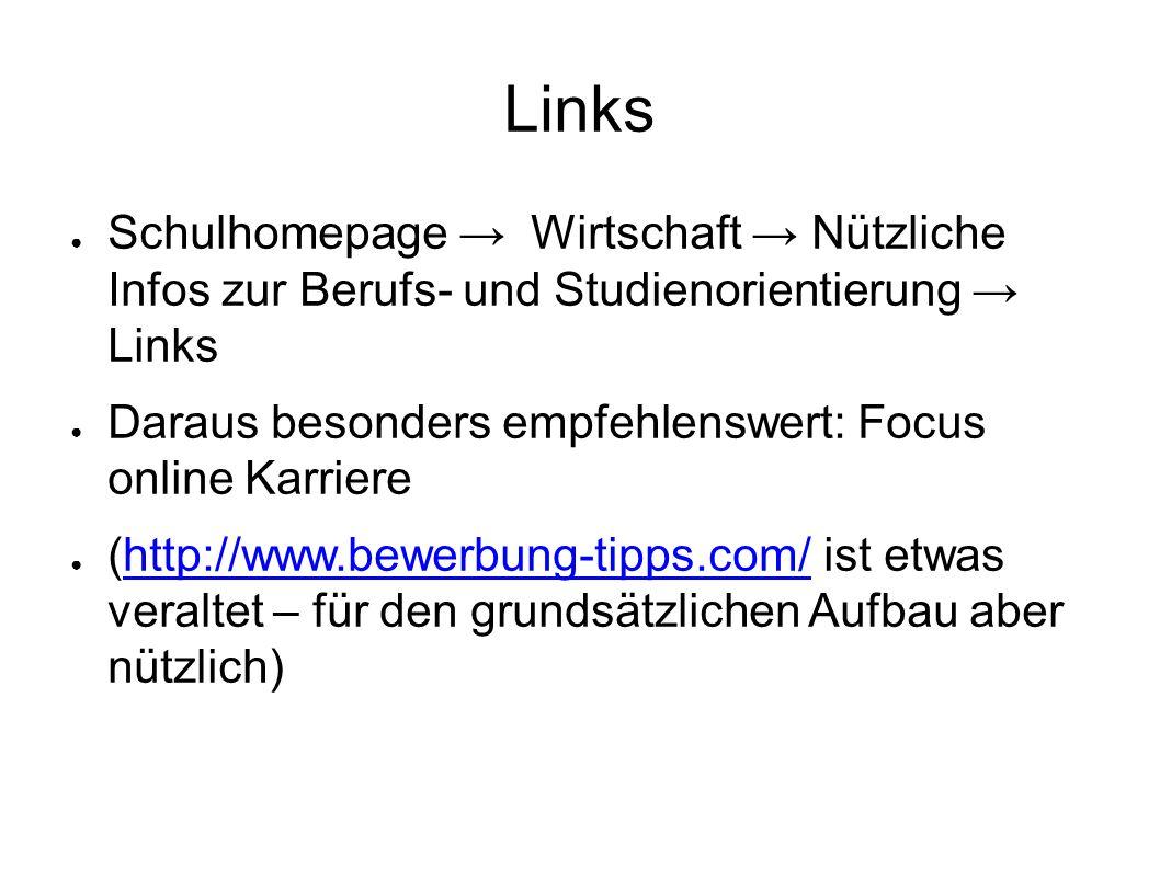 bewerben bewerbungstipps 6 links - Www Bewerbung Tipps Com