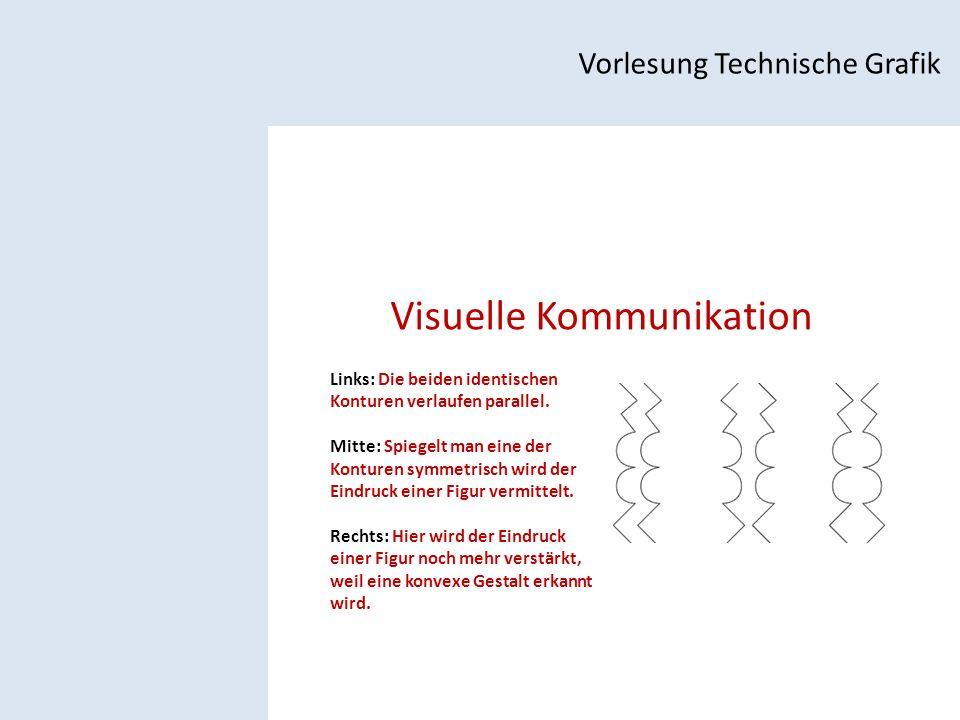 Visuelle Kommunikation Vorlesung Technische Grafik Links: Die beiden identischen Konturen verlaufen parallel.