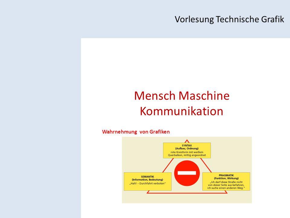 Mensch Maschine Kommunikation Vorlesung Technische Grafik Wahrnehmung von Grafiken