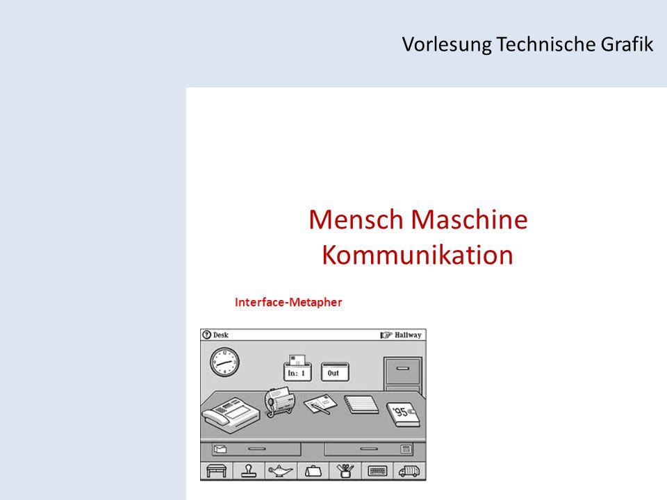 Mensch Maschine Kommunikation Vorlesung Technische Grafik Interface-Metapher