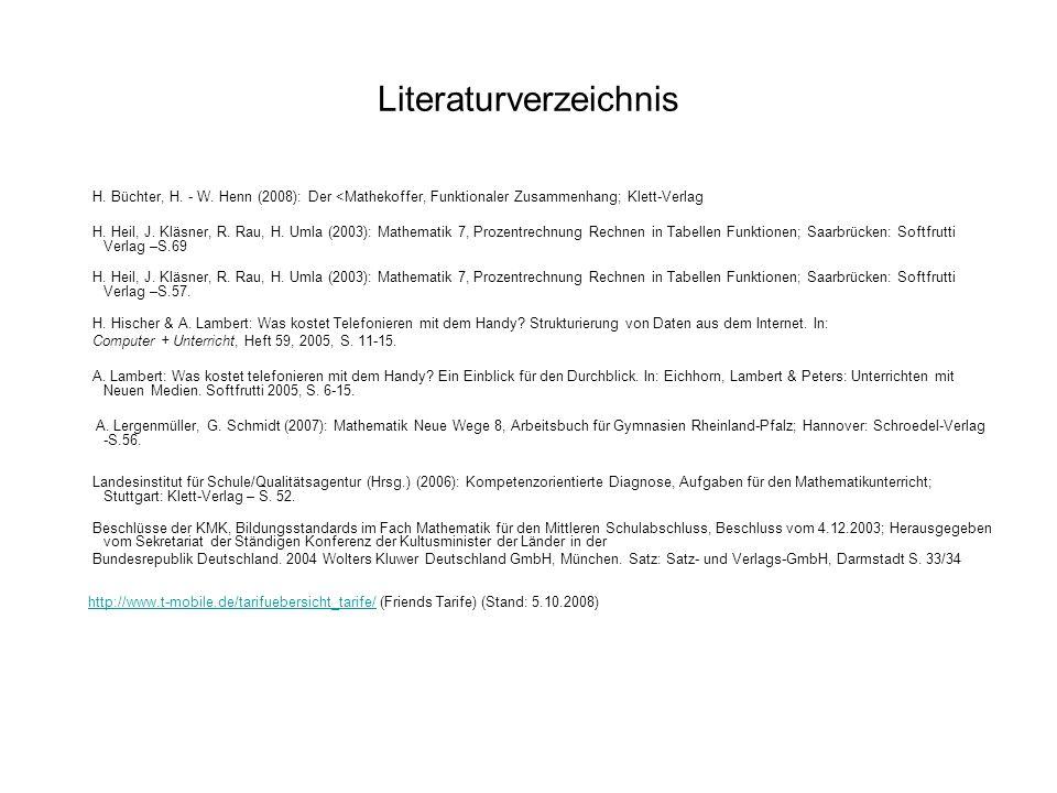 Literaturverzeichnis H. Büchter, H. - W.