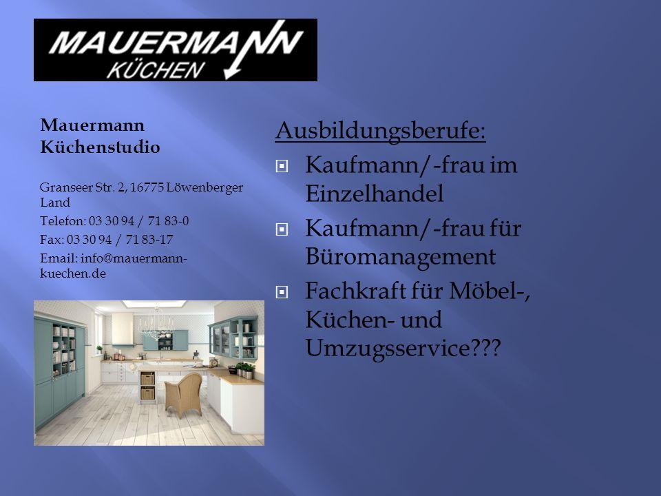 Mauermann Küchenstudio Granseer Str.