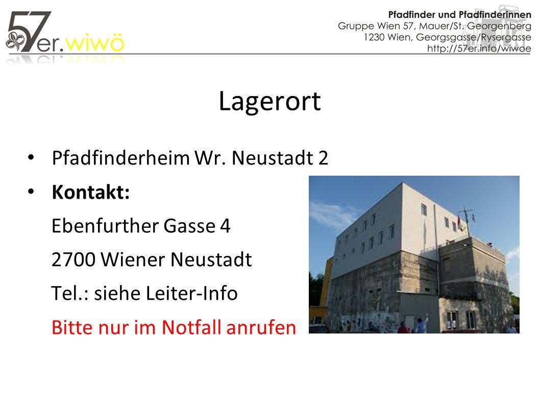 Lagerort Pfadfinderheim Wr.