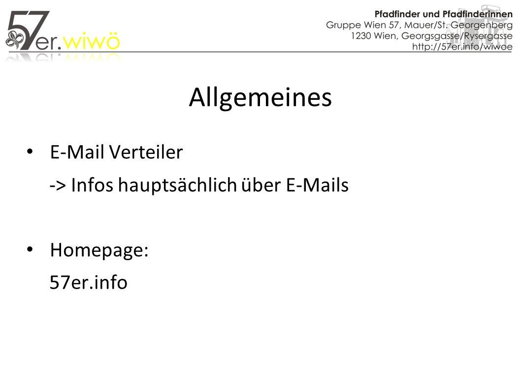 Allgemeines E-Mail Verteiler -> Infos hauptsächlich über E-Mails Homepage: 57er.info