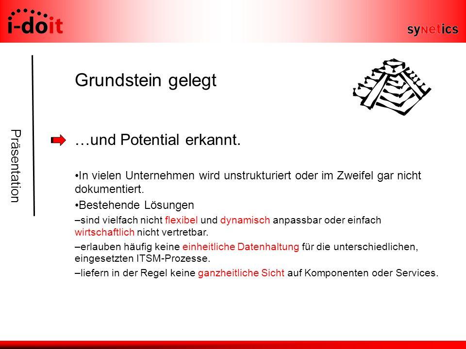 Präsentation Grundstein gelegt …und Potential erkannt.