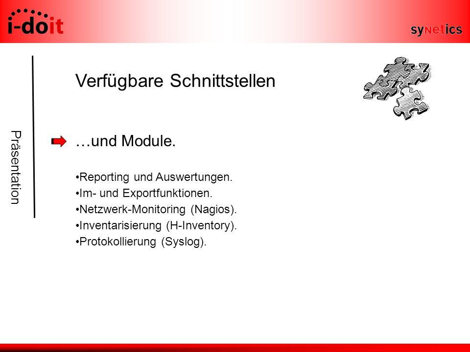 Präsentation Verfügbare Schnittstellen …und Module.