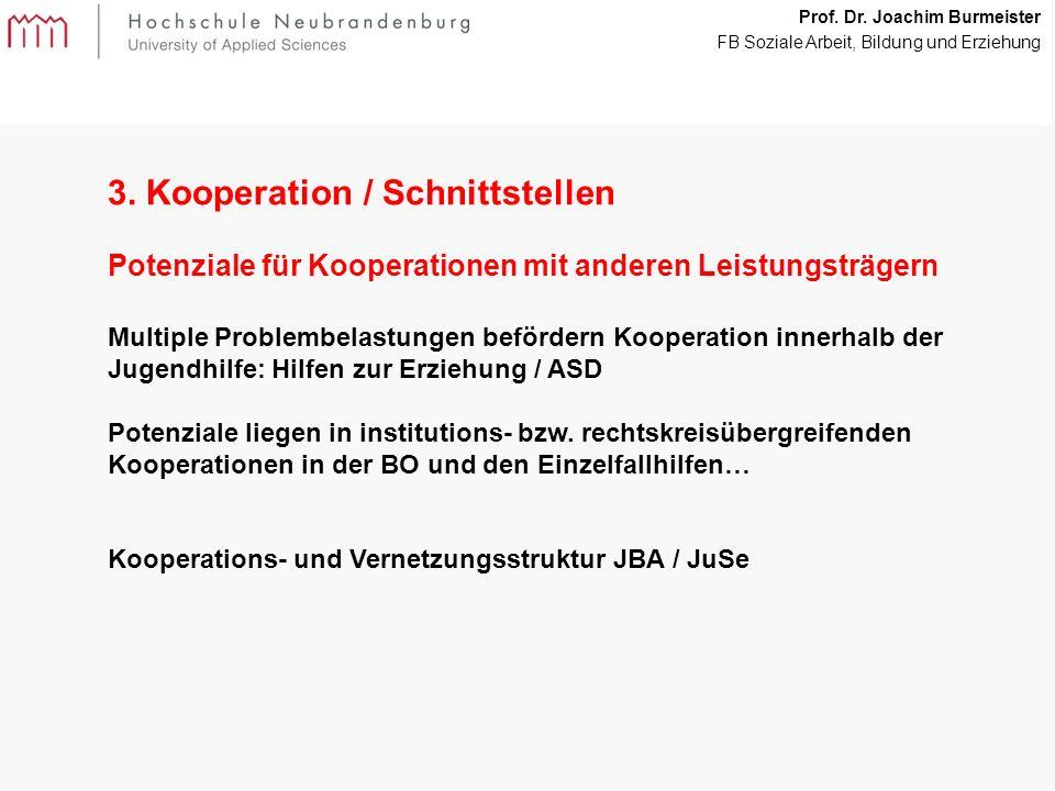 16 Prof. Dr. Joachim Burmeister FB Soziale Arbeit, Bildung und Erziehung 3.