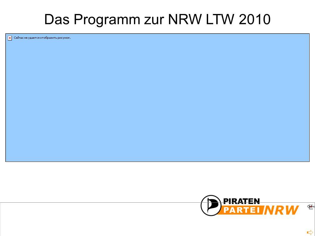 Das Programm zur NRW LTW 2010