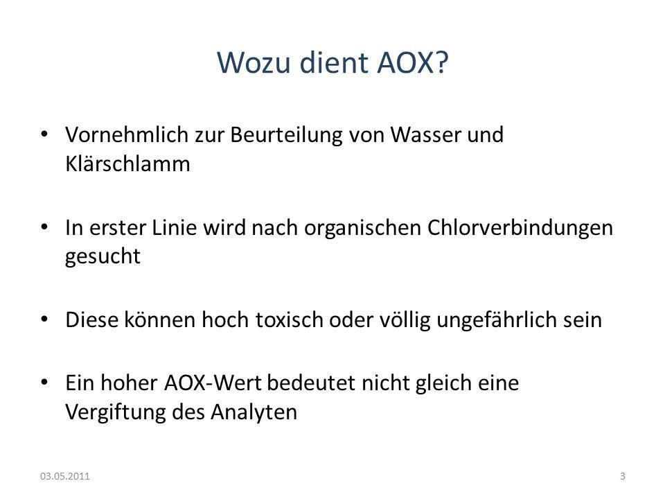 Wozu dient AOX.